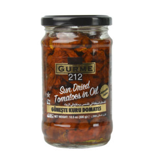 Gurme212 Sun Dried Tomatoes in Oil 320cc Jar