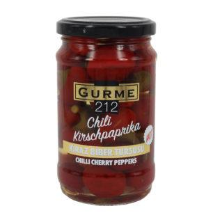 Gurme212 Chili Cherry Peppers  320cc Jar
