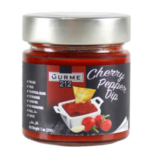 Gurme212 Cherry Pepper Dip  255cc Jar