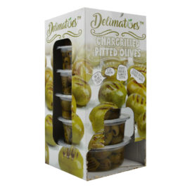 Delimatoes Chargrilled Green Olives 230g Tray