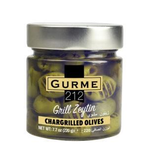 Gurme212 Chargrilled Olives  255cc jar