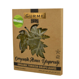 Gurme212 Organic  Grape Leaves  455g Wooden Tray