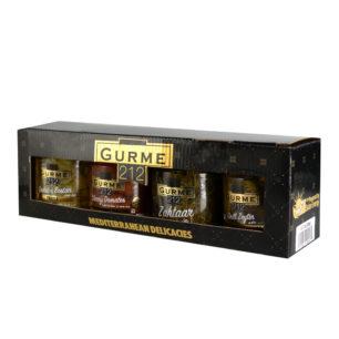 Gurme212 Mediterranean Delicacies Box  4x 255cc jar