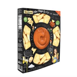 Gurme212 Pita Chips – Dip in Sauce – Roasted Tomato Dip 242g Tray