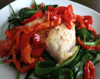Devil Fish With Salty Vegetables