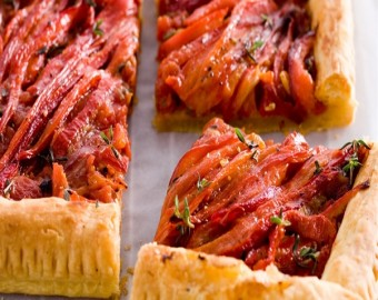 Savory Pie With Bell Peppers And Tomatoes