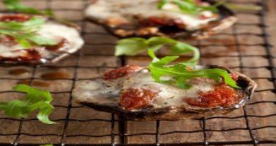 Tomato And Mozzarella Stuffed Mushrooms