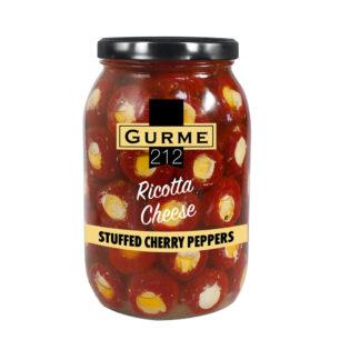 Gurme212 Ricotta Cheese Stuffed Cherry Peppers 2000cc Jar