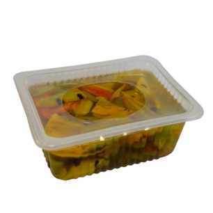 Delimatoes Chargrilled Marinated Semi Dried Peppers Rainbow Colors 1150g Tray